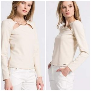 New GUESS BY MARCIANO Long Sleeve Blouse SZ S